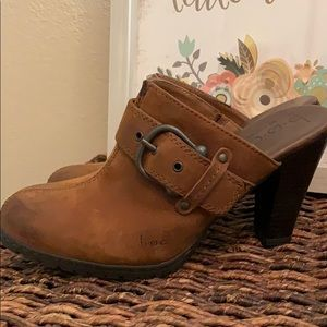 BOC mules with heel